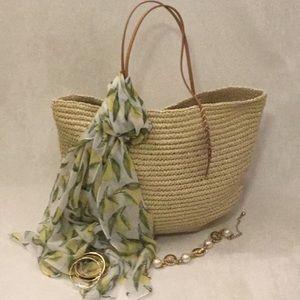 NWT Merona Woven Tote Bag